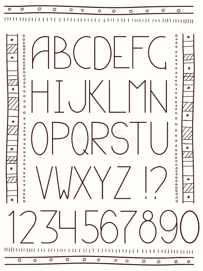 Alphabet dans le style ethnique illustration de vecteur