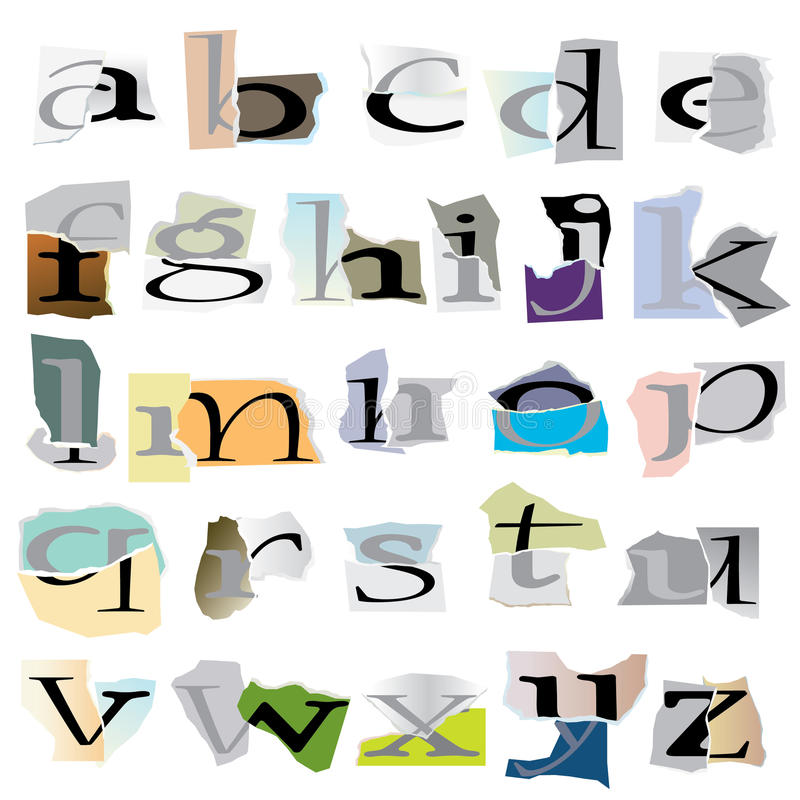 Alphabet de collage illustration libre de droits