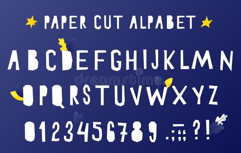 Alphabet de coupe de papier illustration libre de droits