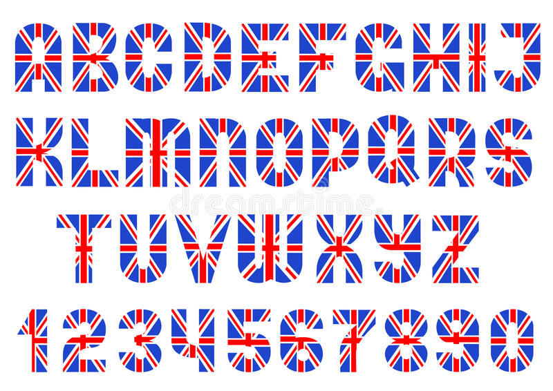 Alphabet de drapeau britannique illustration stock