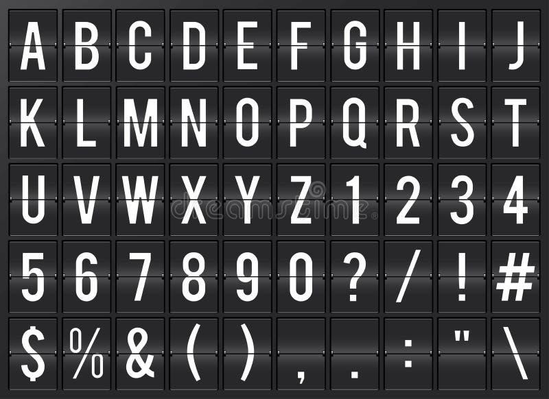 Alphabet de Flipboard d'aéroport illustration stock