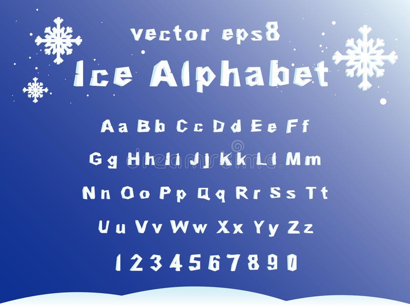 Alphabet de glace illustration libre de droits