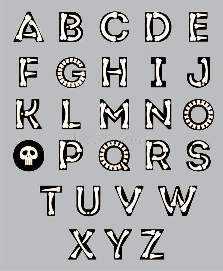 Alphabet de Halloween illustration libre de droits