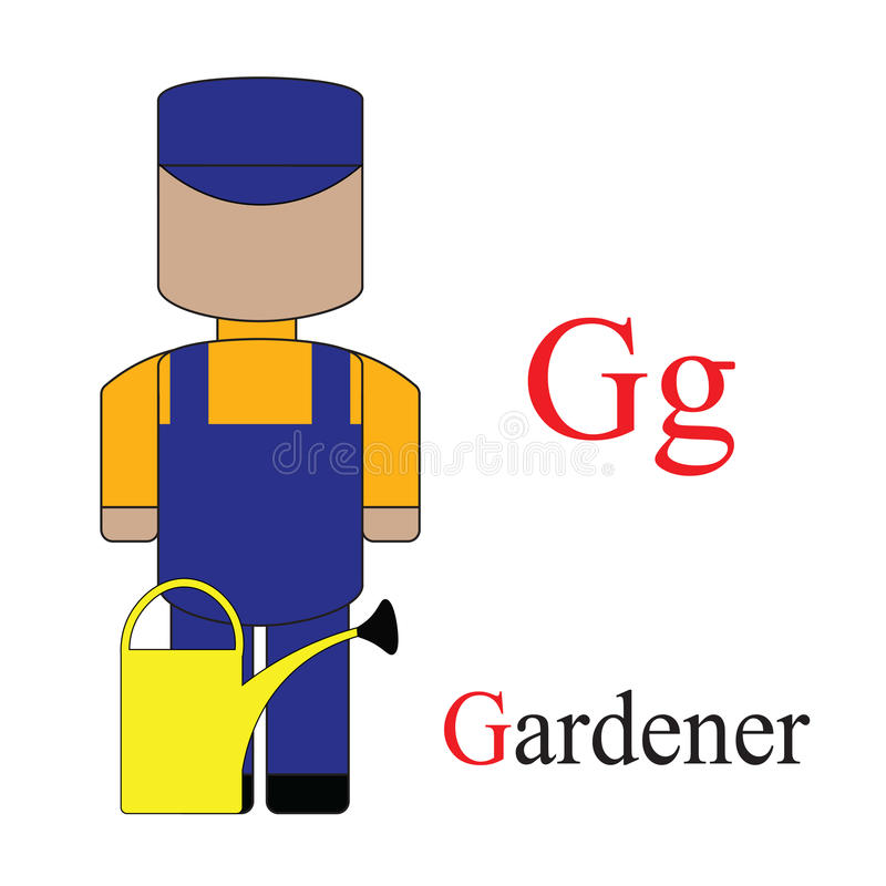 Alphabet de la lettre G des professions illustration de vecteur