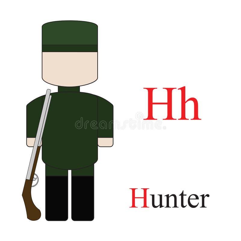 Alphabet de la lettre H des professions illustration stock