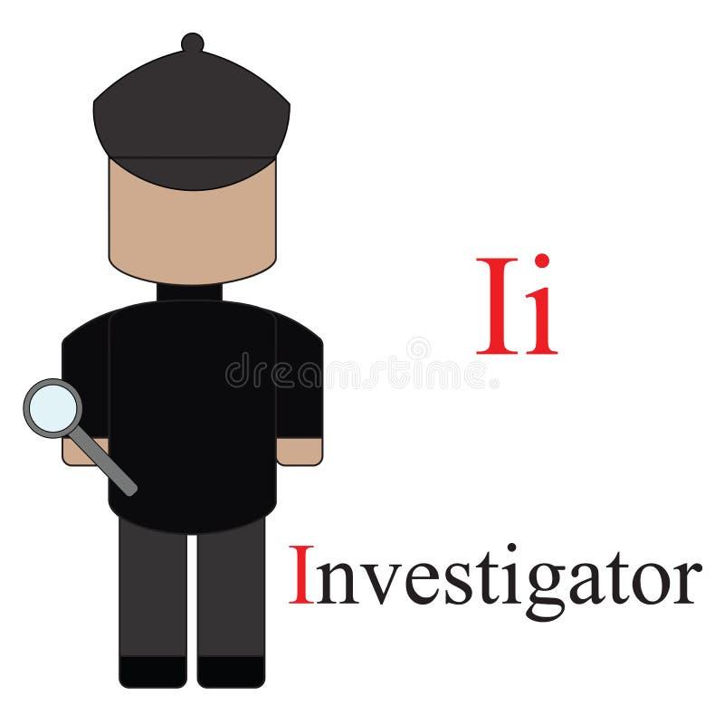 Alphabet de la lettre I des professions illustration libre de droits