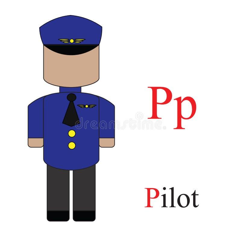 Alphabet de la lettre P des professions illustration libre de droits