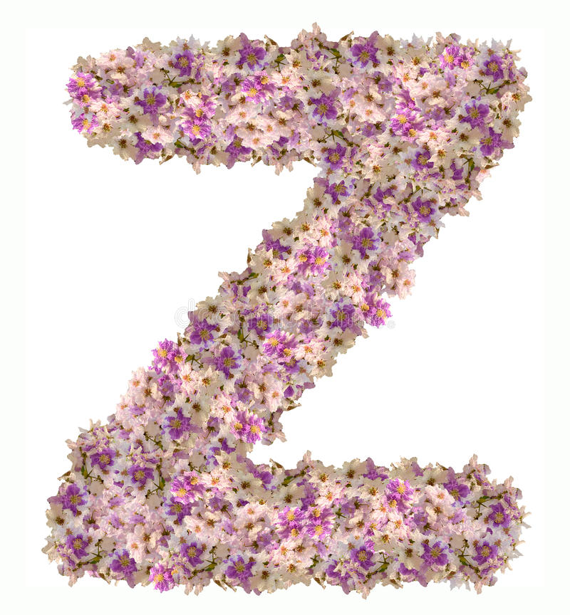 Alphabet de lettre avec le type de concept d'ABC de fleur comme logo images libres de droits