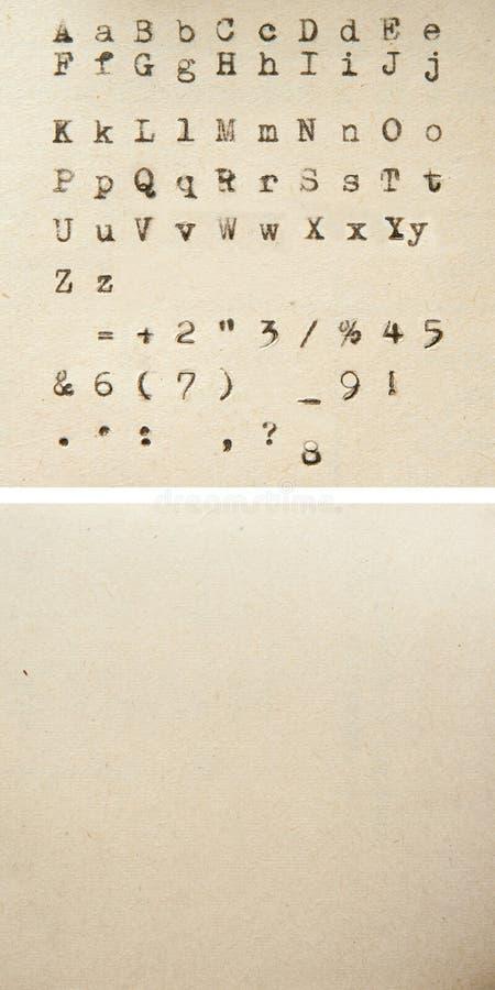 Alphabet de machine à écrire images libres de droits