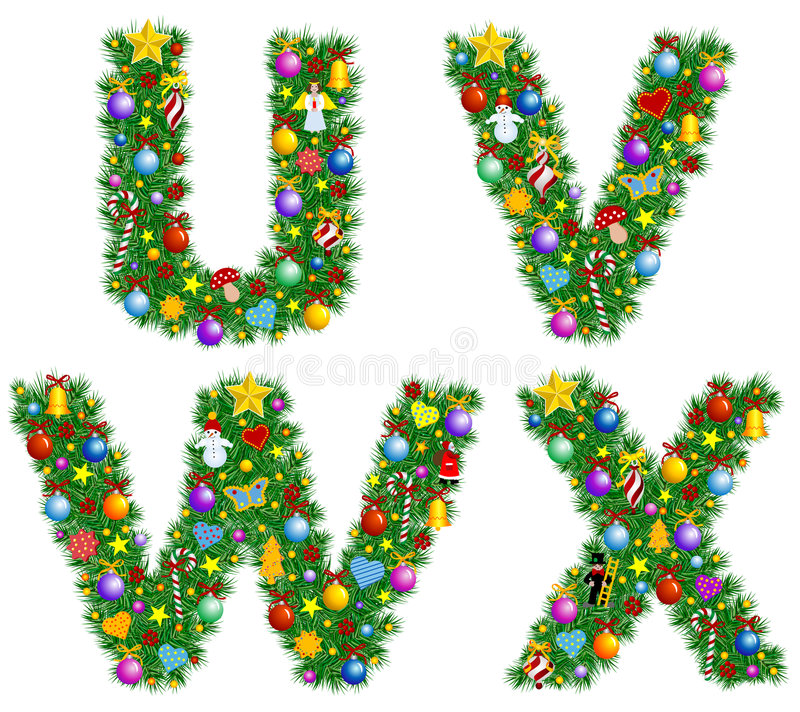 Alphabet de Noël illustration libre de droits