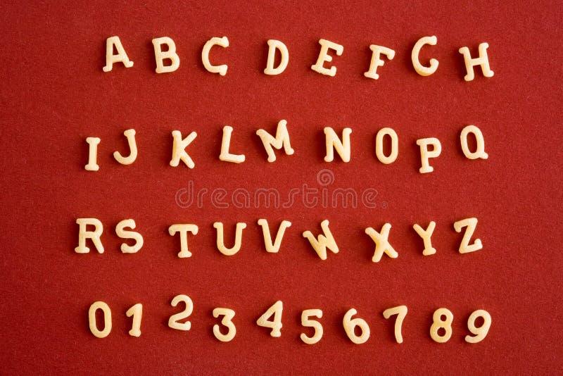 Alphabet de pâtes photos libres de droits