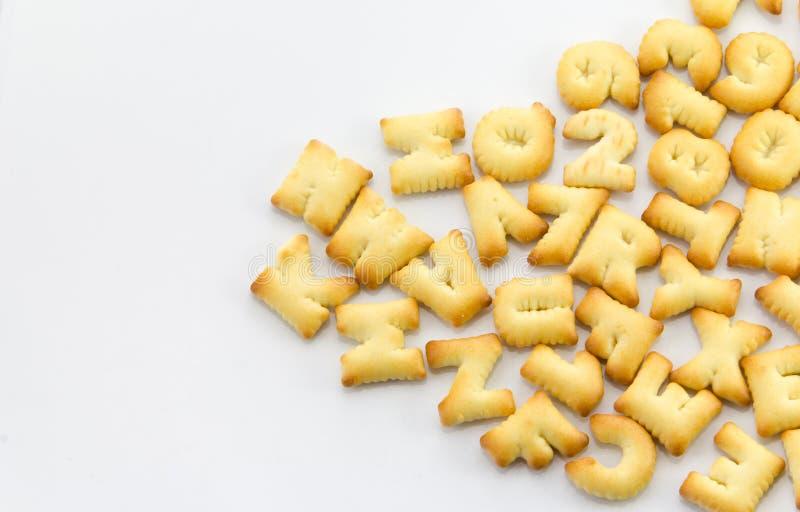 Alphabet de pain image libre de droits