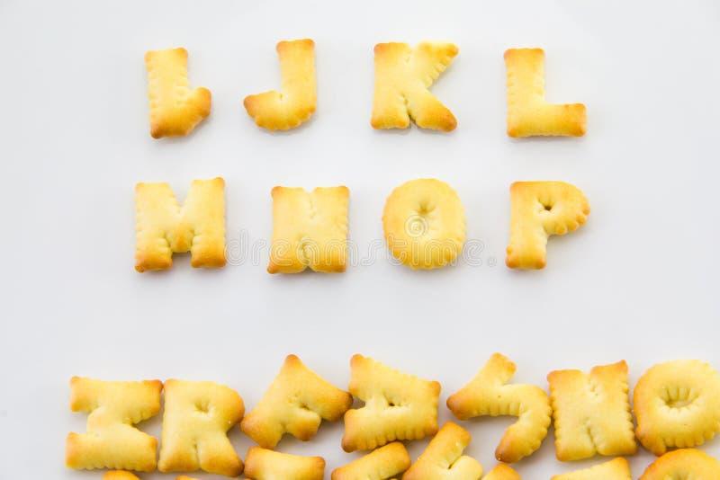 Alphabet de pain photo stock