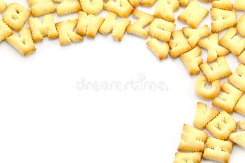 Alphabet de pain photo libre de droits