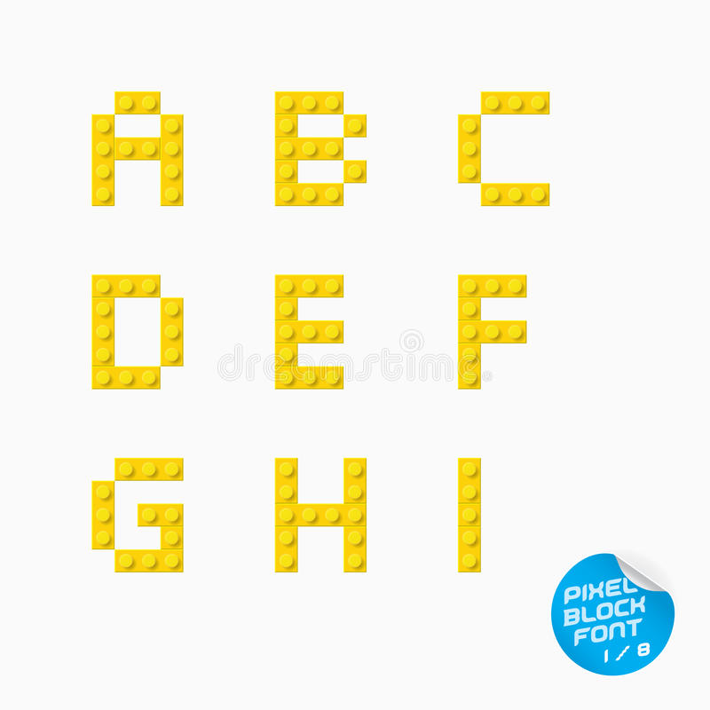 Alphabet de pixel illustration stock