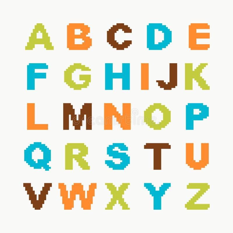 Alphabet de pixel illustration stock