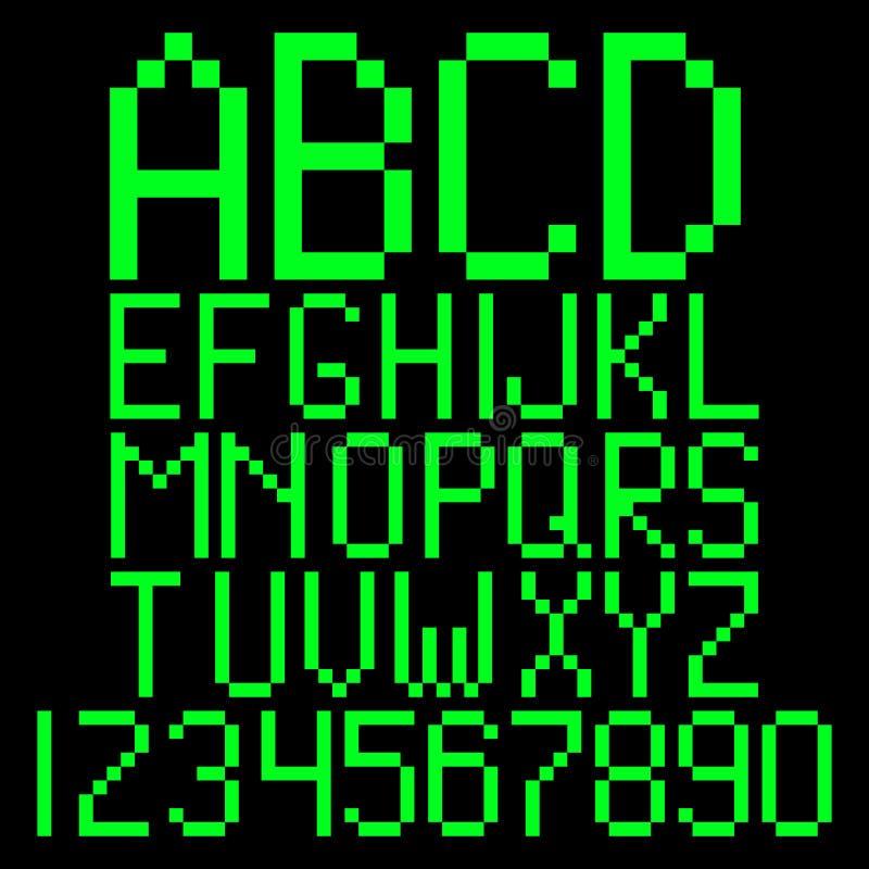 Alphabet de pixel illustration libre de droits
