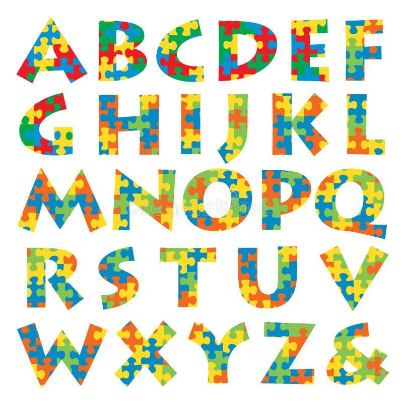 Alphabet de puzzle illustration libre de droits