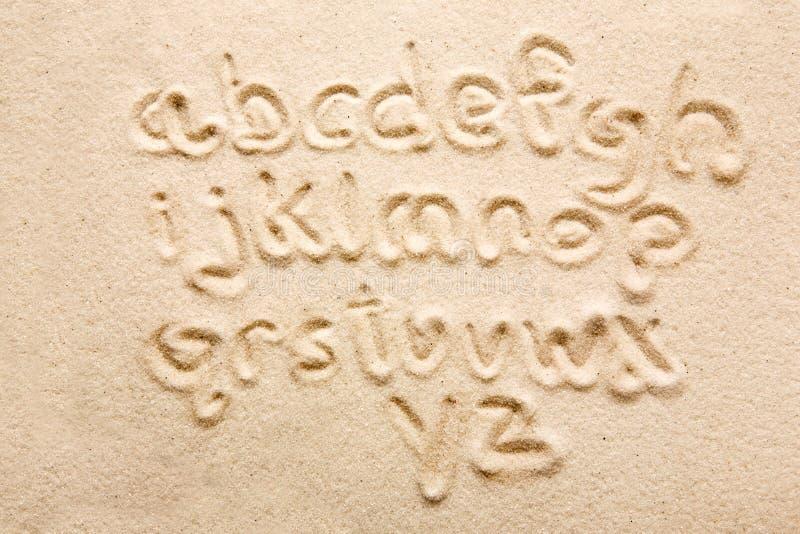 Alphabet de sable photographie stock libre de droits