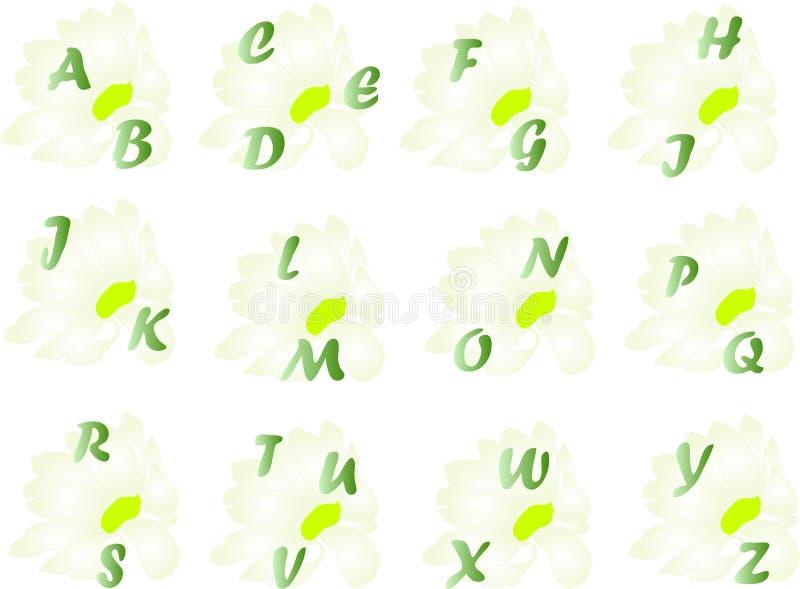 Alphabet de source illustration libre de droits