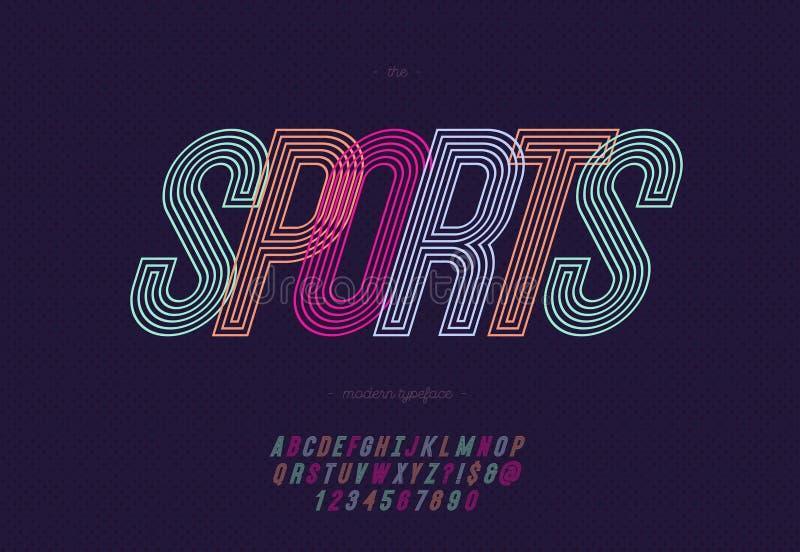 Alphabet de sport de vecteur illustration stock