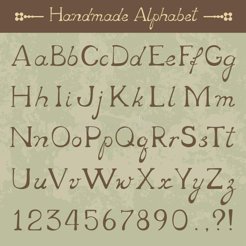 Alphabet de vecteur illustration libre de droits