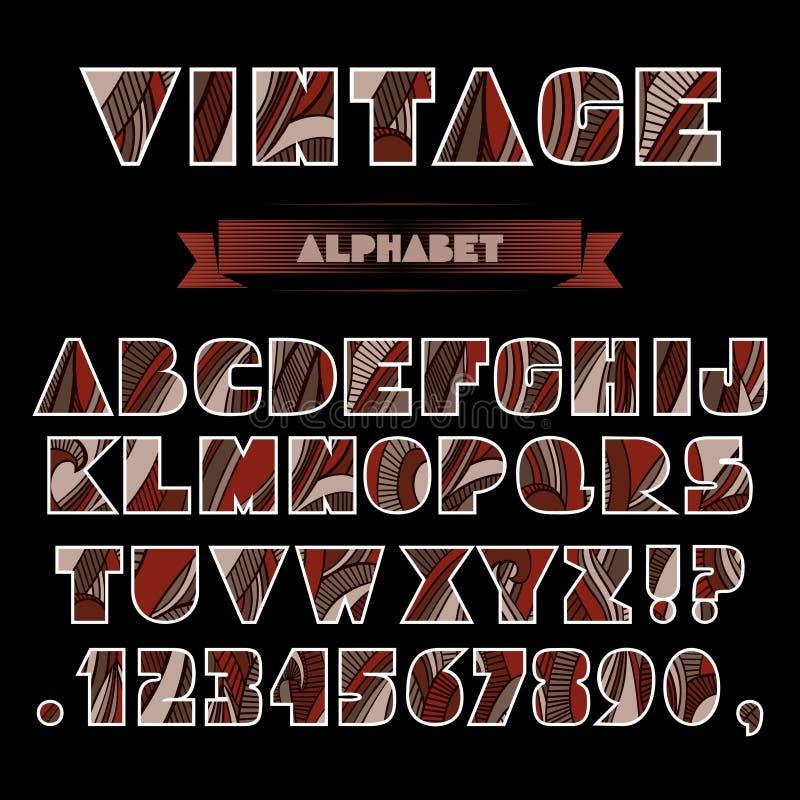 Alphabet de vintage illustration stock