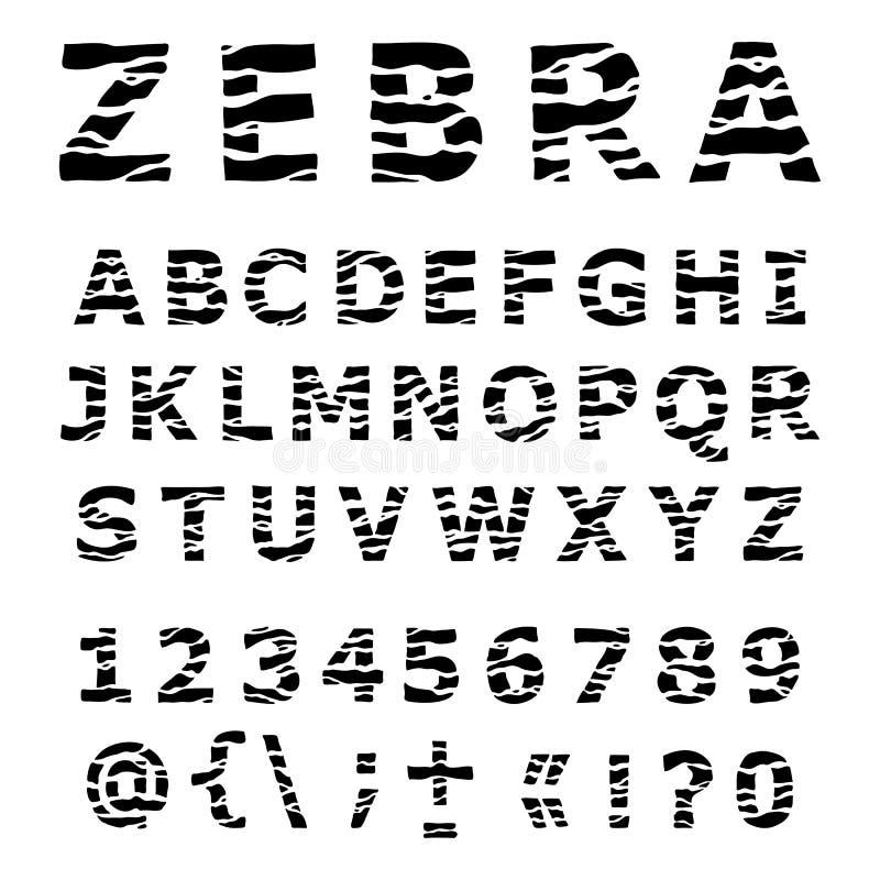 Alphabet de ZÈBRE. illustration de vecteur