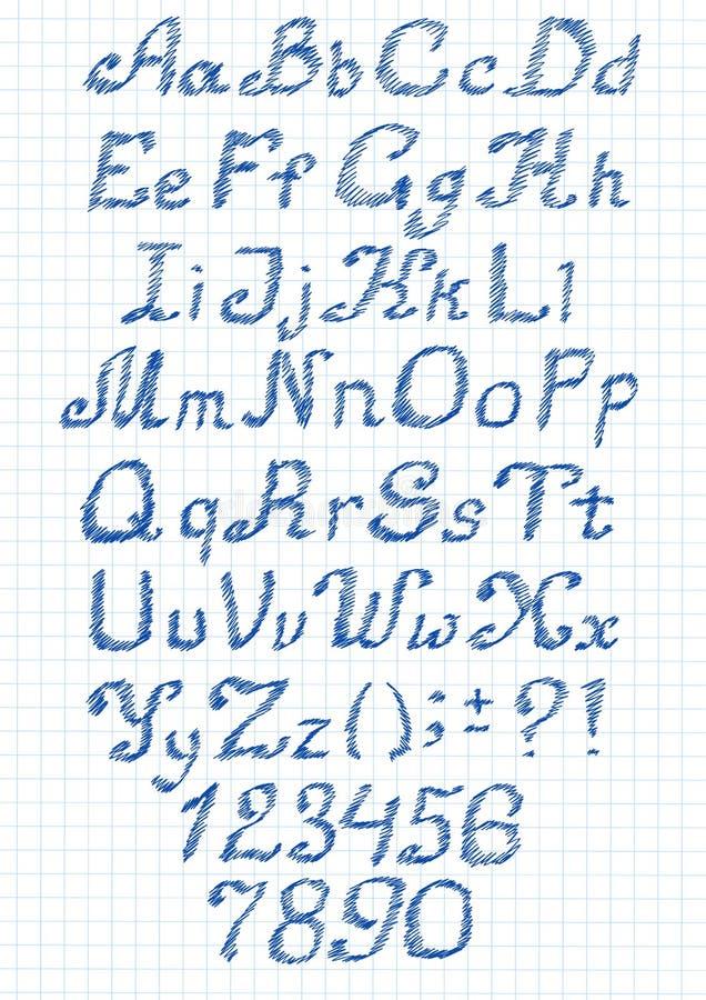 Alphabet de zigzag illustration stock