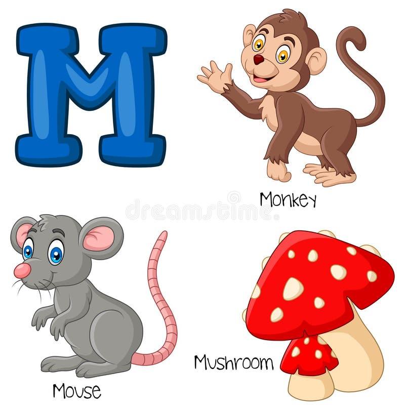 Alphabet der Karikatur M lizenzfreie abbildung
