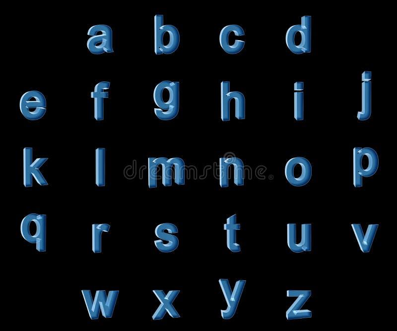 Alphabet der kleinen Buchstaben des Röntgenstrahls lizenzfreie stockfotografie