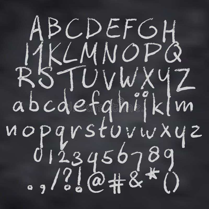 Alphabet in der Kreide lizenzfreie abbildung