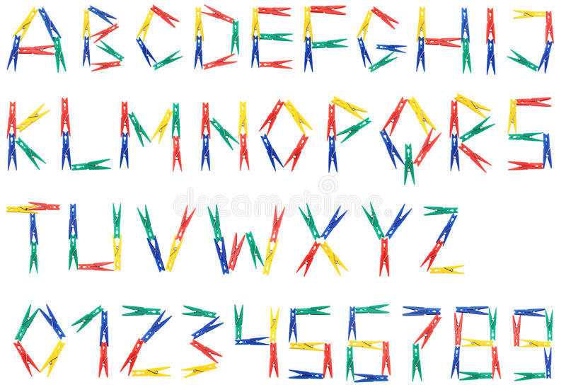 Alphabet des clips illustration libre de droits