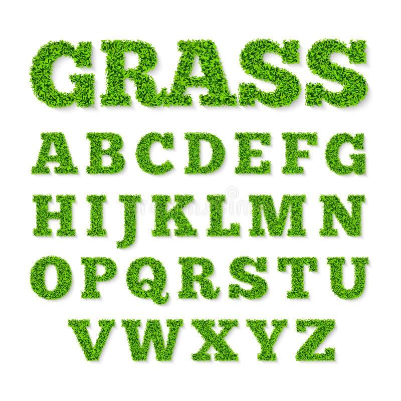 Alphabet des grünen Grases lizenzfreie abbildung