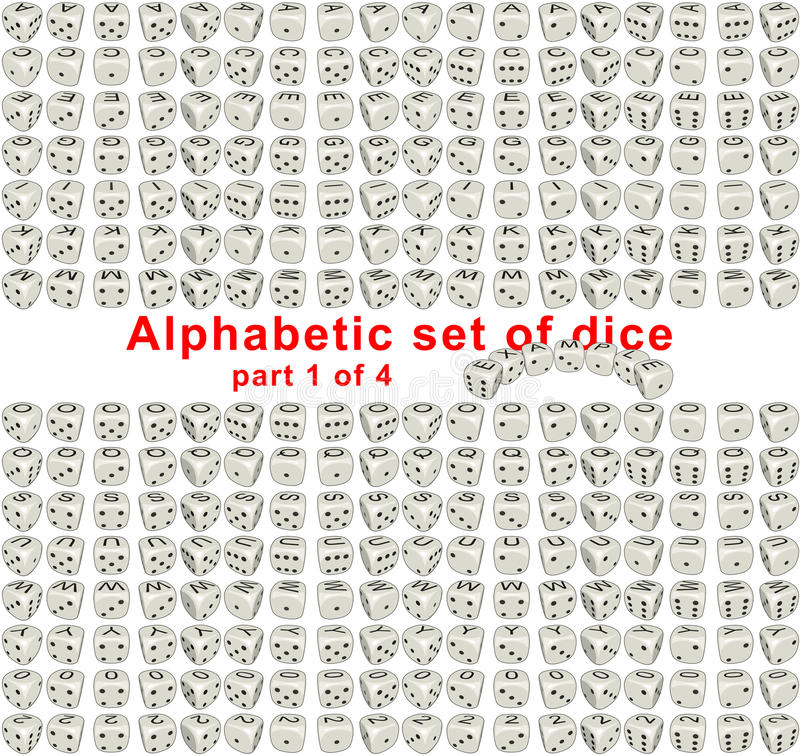 Alphabet dice. Part 1 of 4