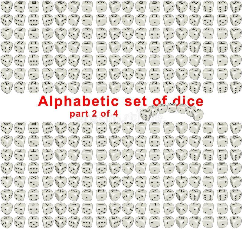 Alphabet dice. Part 2 of 4