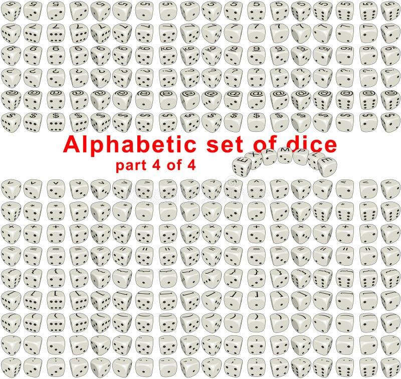 Alphabet dice. Part 4 of 4