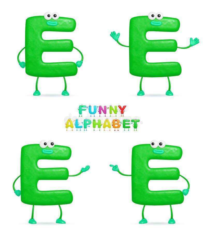 Alphabet drôle illustration stock