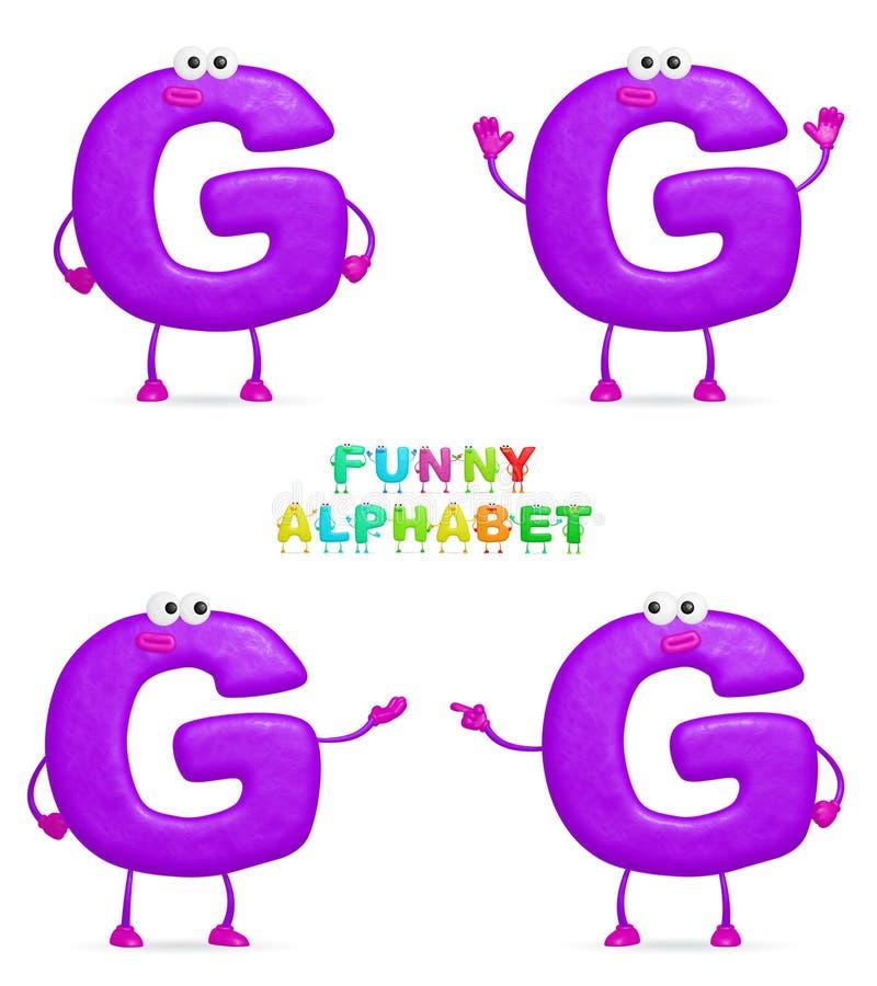 Alphabet drôle illustration libre de droits