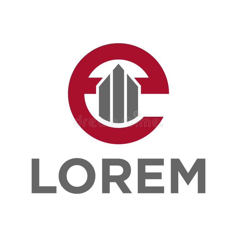 alphabet e d'illustration de vecteur et conception de construction de logo d'icône illustration stock
