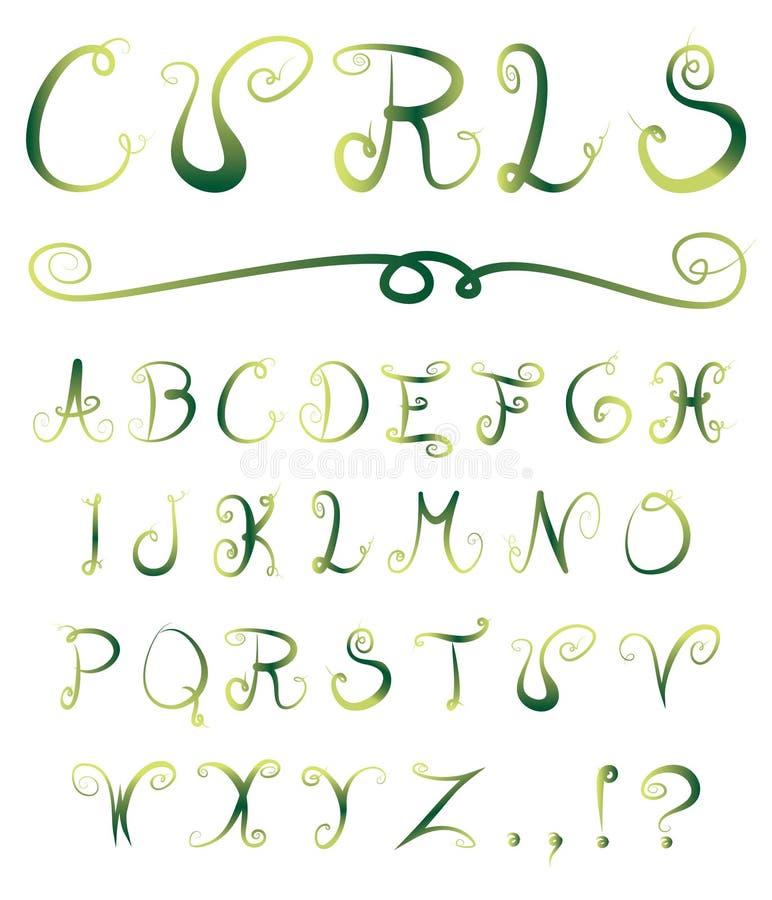 Alphabet enroulé illustration de vecteur