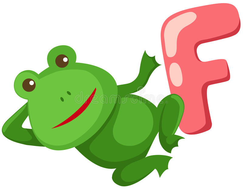 Download Alphabet  F for frog stock vector. Illustration of object - 14853609