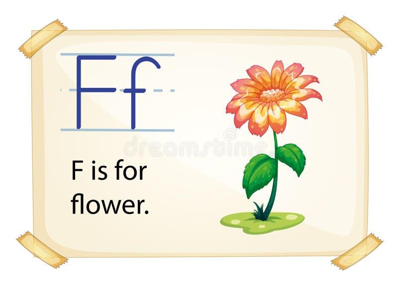Alphabet F vector illustration