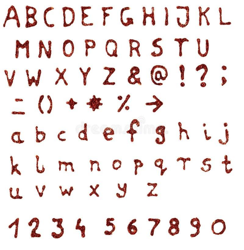 Alphabet fabriqué à la main de scintillement illustration de vecteur