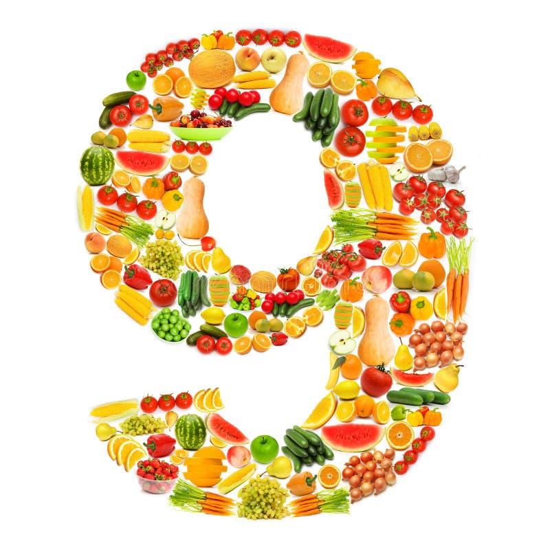 Alphabet fait de fruits et légumes images libres de droits