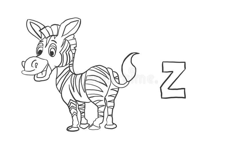 Alphabet-Farbton paginiert ` Tier-Reihe ` stockbild