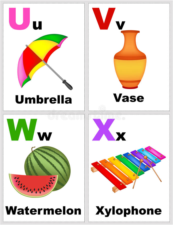 Alphabet flashcards stock illustration Illustration of poster
