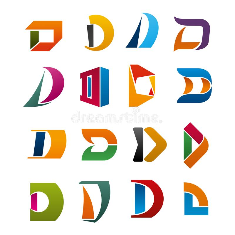 letter d vector icon for corporate identity stock vector illustration of icon letter 120447367 dreamstime com