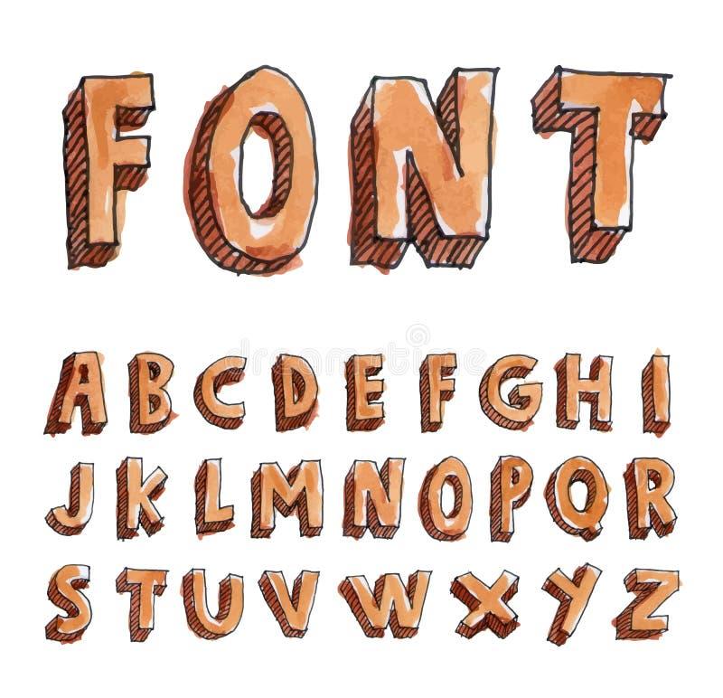 Alphabet font line set- Vector illustration. Alphabet font line set- Vector illustration stock illustration