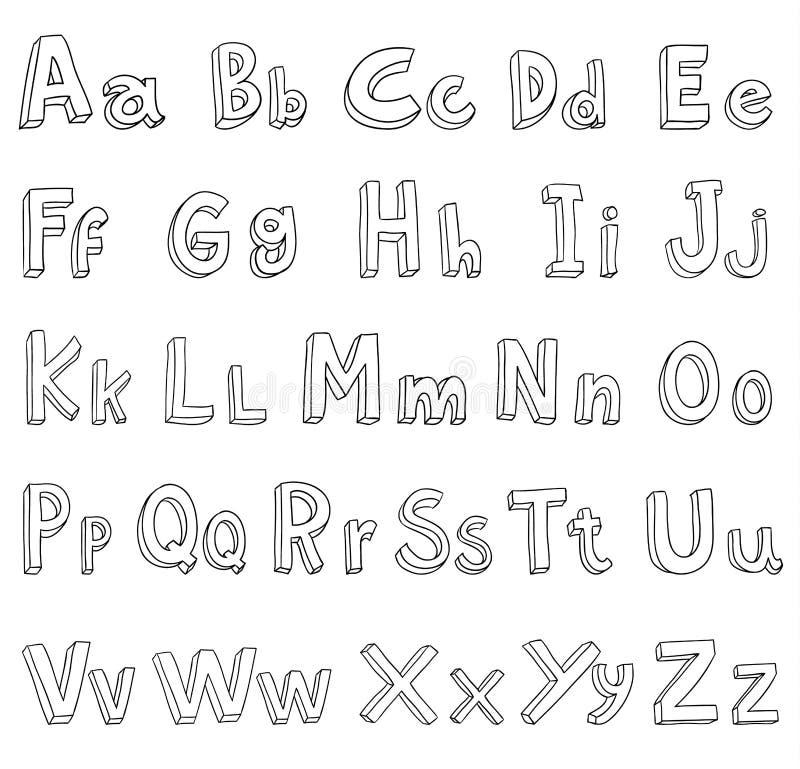 Alphabet font line set- Vector illustration. Alphabet font line set- Vector illustration vector illustration
